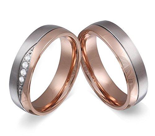 Adomio-Ringe-2-Trauringe-Verlobungsringe-Edelstahl-Rosegold-vergoldet-4-Zirkonia-weiss-gratis-Wunschgravur-E-FB-HD