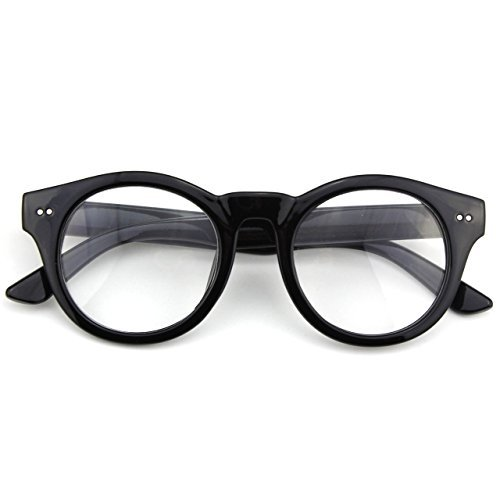 glasses-queen-201585-fashion-round-horn-rimmed-riveted-clear-lens-eye-glassesshiny-black-by-glasses-
