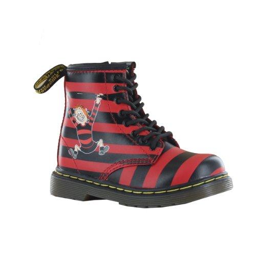 Dr.Martens Brooklee Black Red Leather Infants Boots Size 7 Us front-1025907