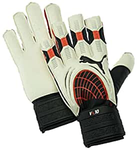 Puma v4.10 Glove (White/Puma Red/Black, 6)
