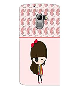 PrintDhaba Cute Doll D-5872 Back Case Cover for LENOVO VIBE K4 NOTE (Multi-Coloured)