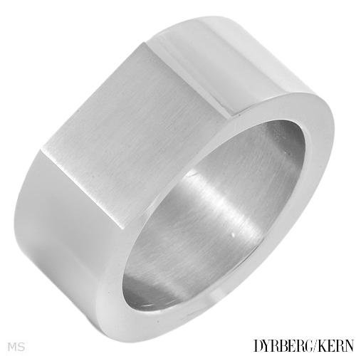 DYRBERG/KERN of DENMARK! Polished and Assembled by Hand Fashionable Ring Made of Shiny Silver Plated Stainless Steel (Size 9)