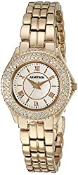 Armitron Women's 75/5332RMRG Swarovski Crystal Accented Rose Gold-Tone Bracelet Watch