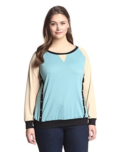 Jasmine Plus Women's Button Accent Sweater