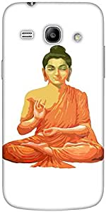 Snoogg Buddha For Peace White Solid Snap On - Back Cover All Around Protectio...