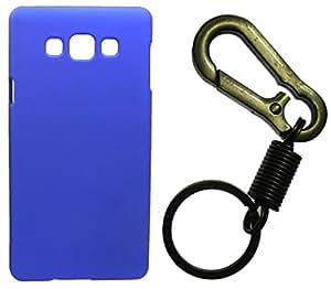 XUWAP Hard Case Cover With Matallic KeyChain For Samsung Galaxy J1 - Blue