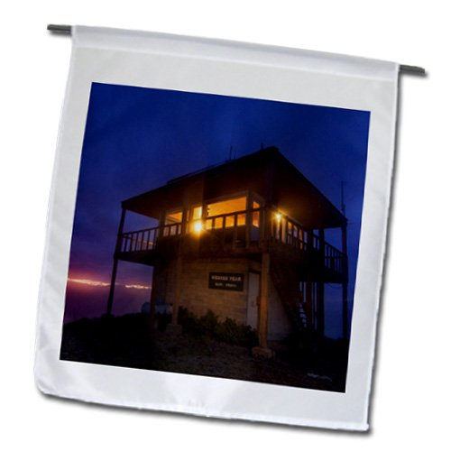 Danita Delimont - Montana - Werner Peak Fire Lookout Tower, Montana, USA - US27 CHA2876 - Chuck Haney - 18 x 27 inch Garden Flag (fl_144912_2)