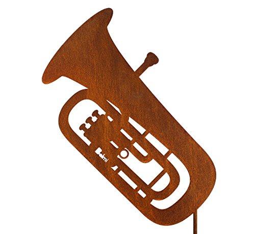Gartenstecker-Tuba-Schnes-Geschenk-fr-Musiker