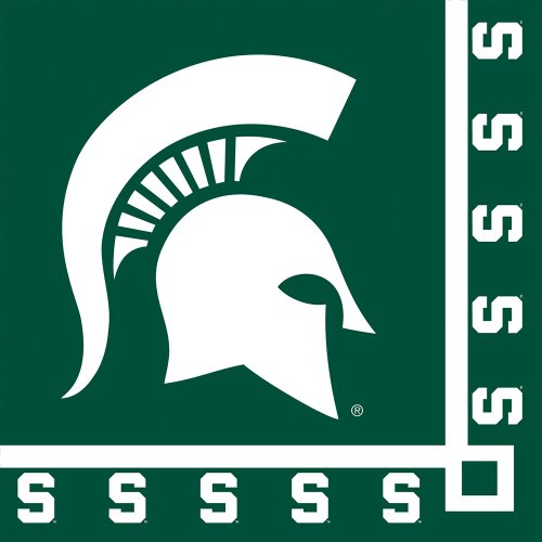 Creative Converting Michigan State Spartans Beverage Napkins (20 Count)