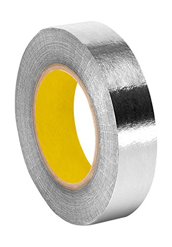 """Tapecase 363 0.625"""" X 36Yd Silver Aluminum Foil/Glass Cloth/Silicone 3M 361 High Temperature Adhesive Electrical Tape, -65 Degrees F To 600 Degrees F, 36 Yd Length, 0.625"""" Width"""