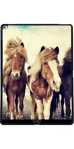 Custodia per Apple Ipad Pro (13 inches) - Famiglia Cavallo Della Fauna Selvatica by WonderfulDreamPicture