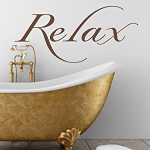 Relax 39 bathroom bedroom wall art sticker for Bathroom art amazon
