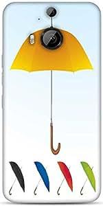Snoogg Umbrellas Vector F Designer Protective Back Case Cover For HTC M9 Plus