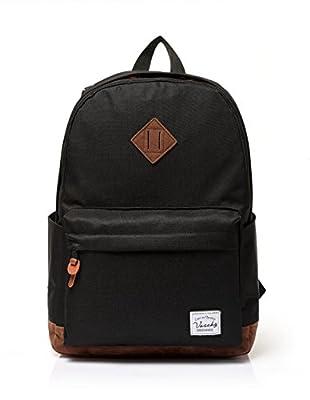 Vaschy Unisex Classic Waterproof School Rucksack Travel BackPack 15Inch Laptop