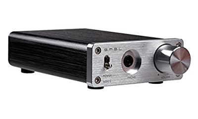 SMSL MINI5 50W*2 TDA7492 Digital Amplifier + Headphone Amplifier + Power Adapter (black),by Gemini Doctor