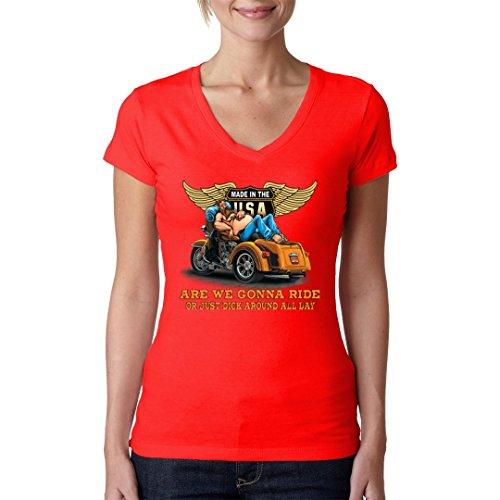 Im-Shirt - Top - Basic - Maniche corte  - Donna rosso Large