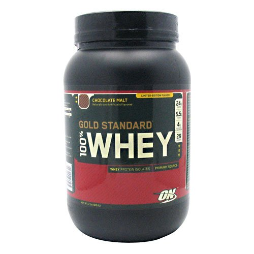 100 Percent Whey Protein, Chocolate Malt, 2 Lbs Gold Standard Protein From Optimum Nutrition