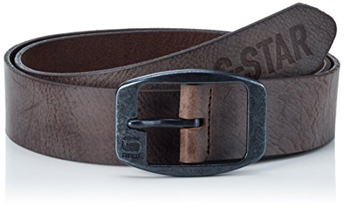 G-STAR RAW Ladd Belt, Cintura Uomo, Marrone (Strato/Black Metal 6355), S