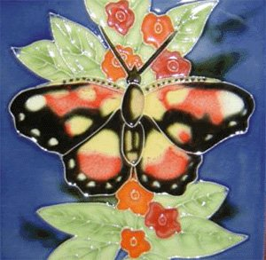 Amazon Butterfly Decorative Ceramic Wall Art Tile 6x6