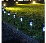B0263 Solar Powered 5000MCD LED Lights (Pack of 10)