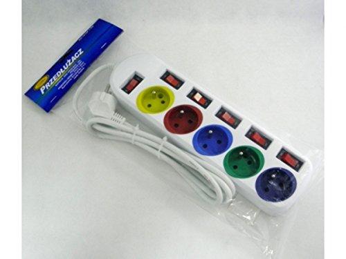 ritz-steckdosenleiste-verlangerungskabel-farbe-5-fach-schalter-einzeln-10-a-250-v