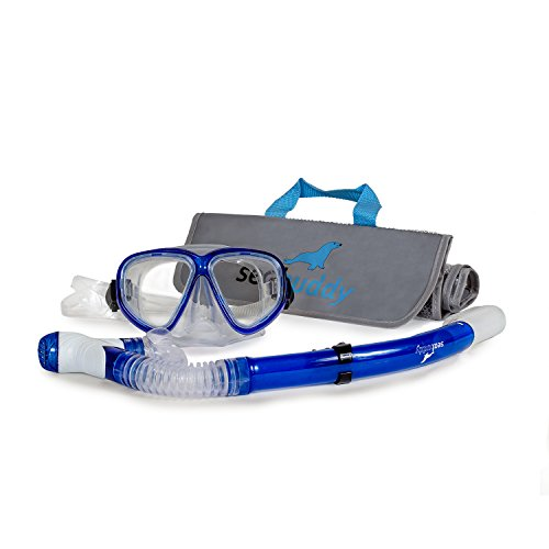 SealBuddy Maui Mask Snorkel Mesh Gear Bag Combo (Blue)