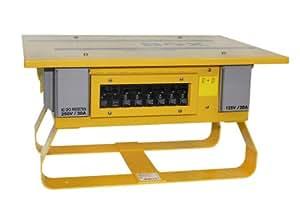 Leviton PB101 50 Amp, 125/250 Volt, Portable Power Distribution Center, Yellow