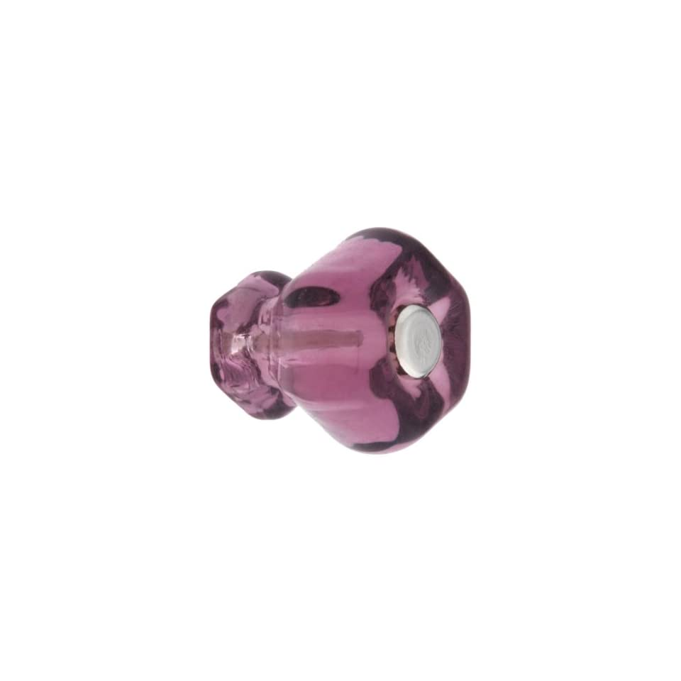 Small Hexagonal Purple Glass Cabinet Knob With Nickel Bolt. Drawer Knobs.   Cabinet And Furniture Knobs