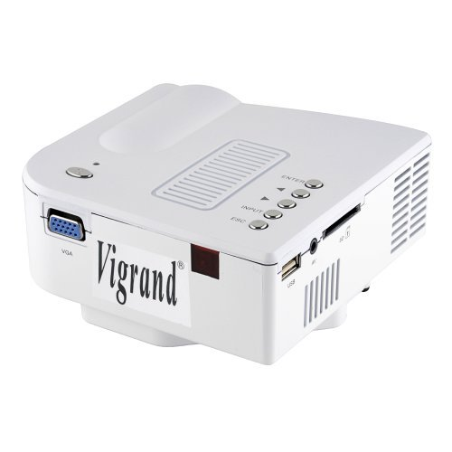 Vigrand mini portable lcd multimedia projector 32 ansil for Mini portable projector for ipad