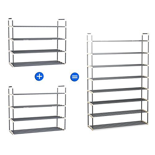 shoe rack 24 pairs free standing heavy duty sturdy easy set up organizer closet ebay. Black Bedroom Furniture Sets. Home Design Ideas