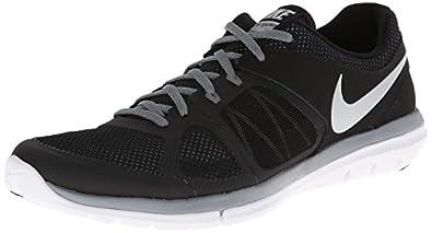 Nike Men's Flex 2014 RN Black/Mtllc Slvr/Cl Gry/White Running Shoe 7.5 Men US