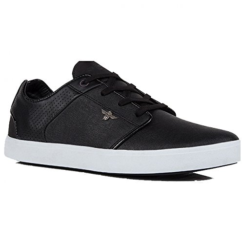 Creative Recreation Men's Santos Fashion Sneaker, Black/White Perforated, 9.5 M US