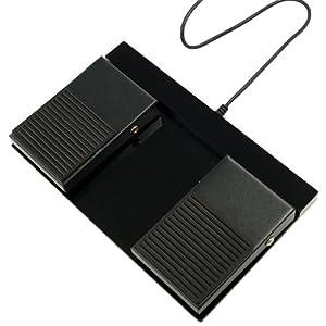 サイズ USBダブルフットスイッチ2 静音タイプフットスイッチ USB-2FS-2