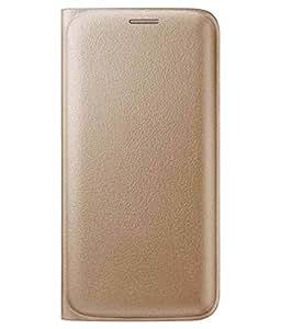 Khatu Original Leather Flip cover for Samsung Galaxy A7(2016)-Golden