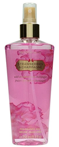 Victoria's Secret - Acqua profumata per il Corpo Strawberries & Champagne, 250 ml