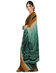 Vamika Georgette Printed Saree (Multi Colour) - B00L30A04C