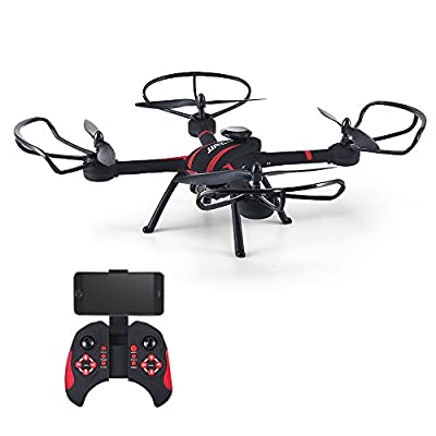 Babrit 4CH FPV Headless Mode RC Quadcopter 2MP HD Camera WIFI Remote Control Quadcopter Drone with Colorful LED Lights