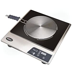 Max Burton 6050 Induction Cooktop Stainless Steel and Black and Interface Disk Combination Set