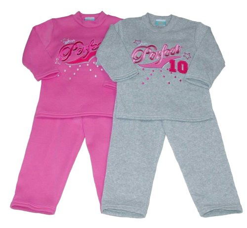 "Buy Girls' ""Miss Perfect"" Fleece Outfit with Applique"