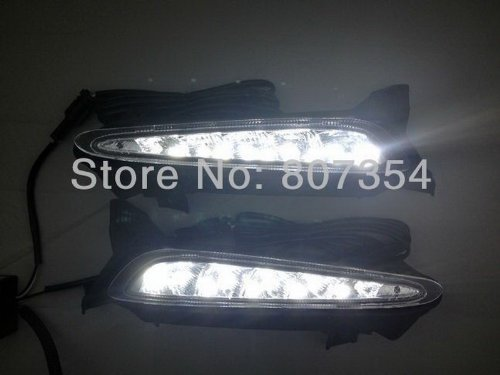 Daytime Running Light Day Fog Lamp Turn Signal Cover Kit Led Drl 2Pcs Fit For Mazda 3 Star 2011-2013/2010 Mazda 3 S