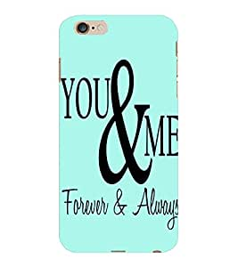 ColourCraft Quote Design Back Case Cover for APPLE IPHONE 6S PLUS