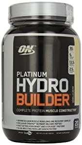 Optimum Nutrition Platinum Hydro Builder, Vanilla Bean, 2.2-Pound