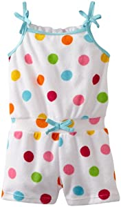 ABSORBA Baby-Girls Infant Multi Dot Terry Knit Rompers from ABSORBA
