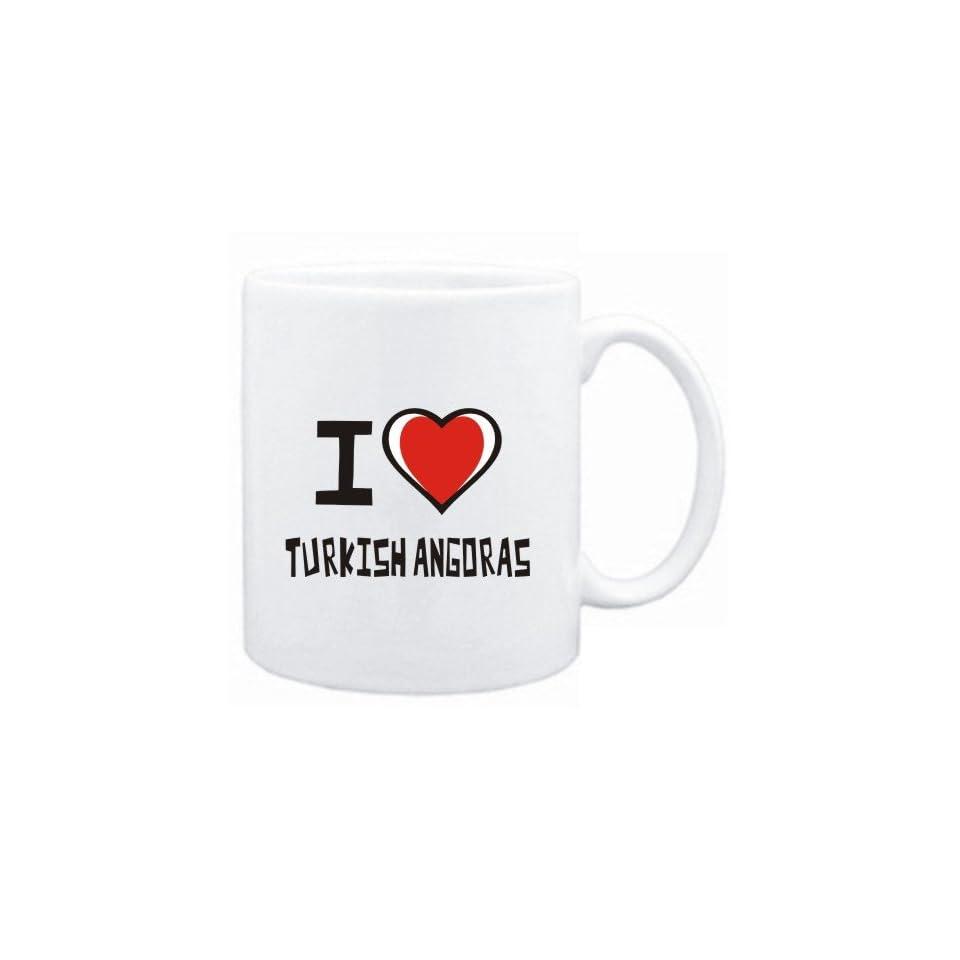 Mug White I love Turkish Angoras  Cats