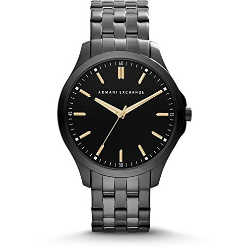 Armani Exchange AX2144 45mm Ion Plated Stainless Steel Case Black Steel Bracelet Mineral Men's Watch