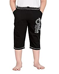 Punkster Cotton Black 3/4 Th For Boys_14-15 Years