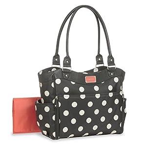 carter 39 s tote polka dot diaper bag with leatherette black. Black Bedroom Furniture Sets. Home Design Ideas