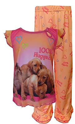 Animal Planet - Labrador Retriever Ruffled Pajamas for Little Girls