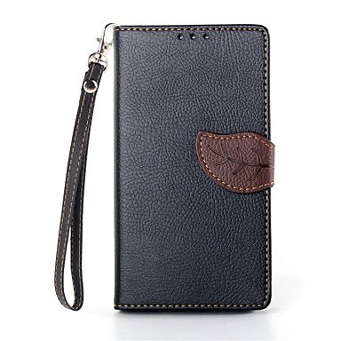 guoxian Deluxe Litchi Leaves Wallet Leather Flip Tpu Case For Sony Xperia Z1 L39H Wallet Handbag + Lanyard (Sony Xperia Z1 Carbon Fiber compare prices)