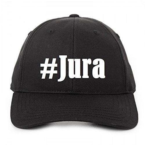 """Base Cap Hashtag """"#Jura""""Größe""""uni""""Farbe""""Schwarz""""Druck""""Weiss"""